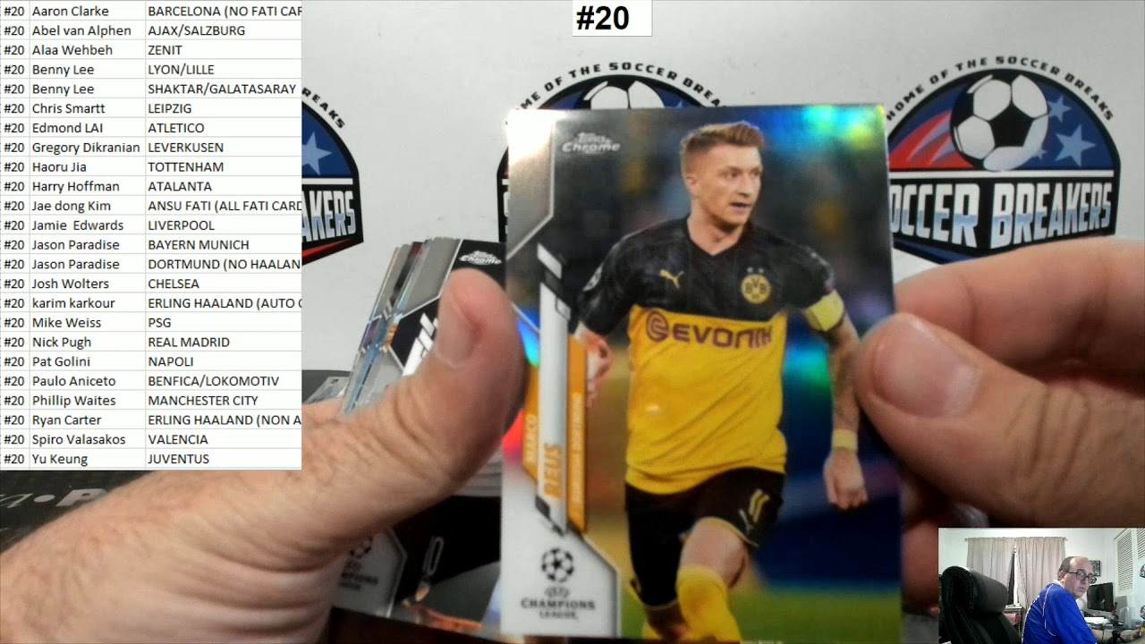 2019-20 Topps Chrome UEFA Champions League Soccer 4 Hobby Box PYT Break #20 (SOCCER BREAKERS FC)