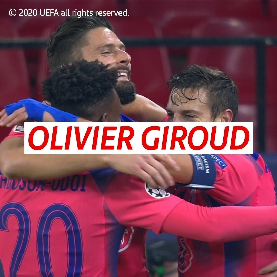 Four-goal Giroud takes the prize  The oldest hat-trick scorer in  history!     ...
