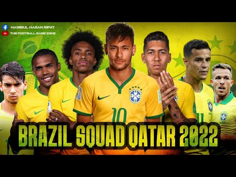 Brazil New Squad 2022 Qatar world cup 2022 || New & Young players 2022