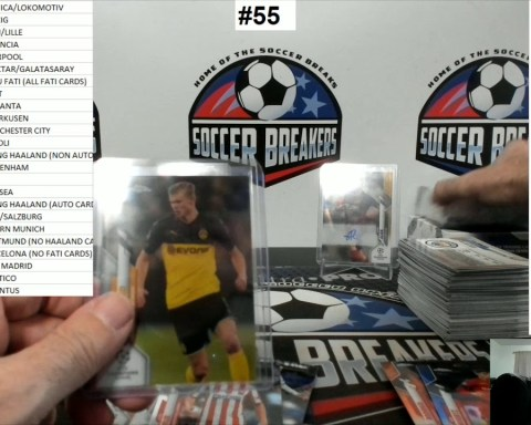 2019-20 Topps Chrome UEFA Champions League Soccer 5 Box Mixer PYT Break #55 (SOCCER BREAKERS FC)