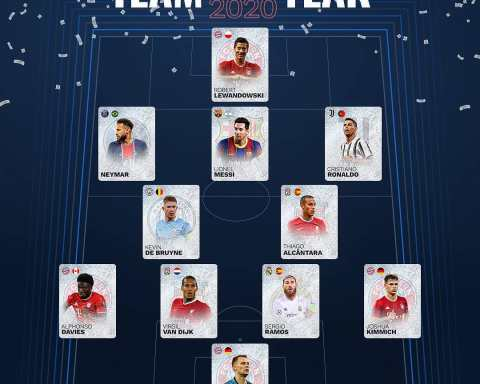 UEFA.com Fans' Men's Team of the Year 2020 
