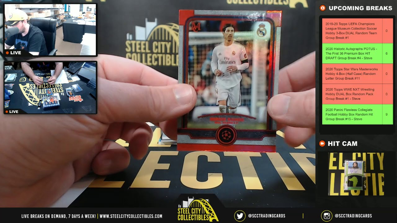 2019-20 Topps UEFA Champions League Museum Collection Soc Hobby 3-Box DUAL Rdm Team Group Break #1