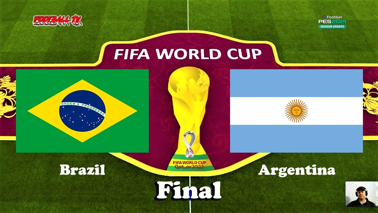 BRAZIL vs ARGENTINA | FIFA WORLD CUP 2022 FINAL | PES 2021 Gameplay PC