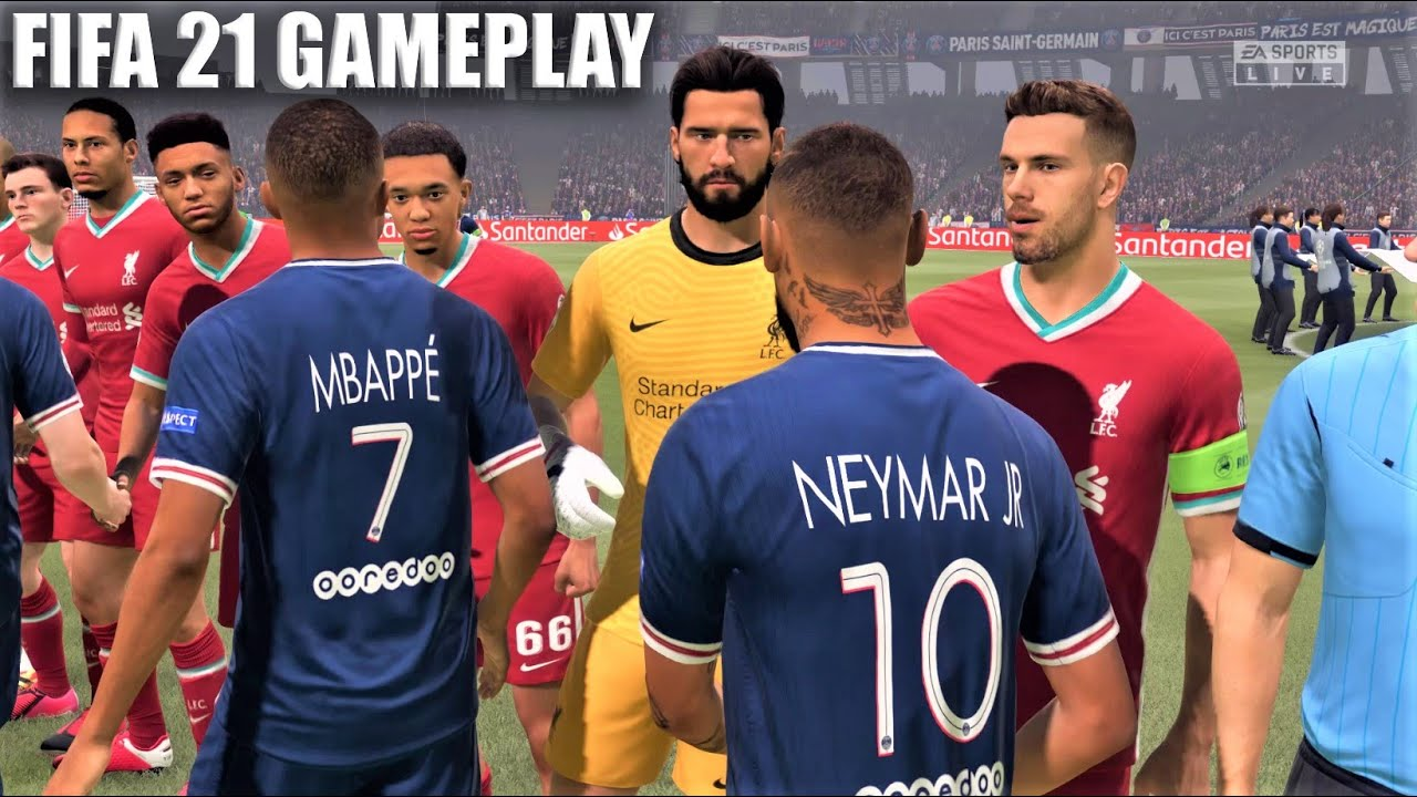 FIFA 21 Opening Gameplay : UEFA Champions League Final Gameplay PSG Vs Liverpool