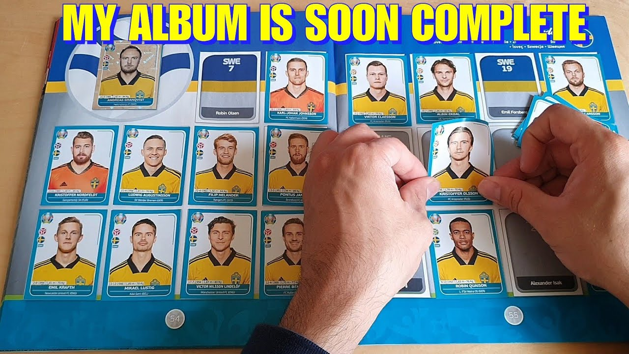 UNBOXING & PASTING of 10 PACKS | UEFA Euro 2020 Panini Sticker Album