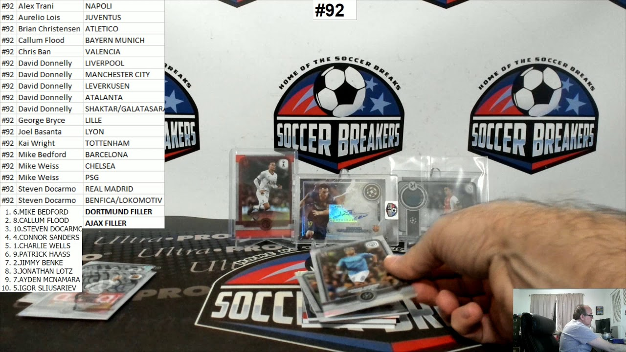 2019-20 Topps Museum Collection UEFA Champions League 4 Hobby Box PYT Break #92 (SOCCER BREAKERS FC)