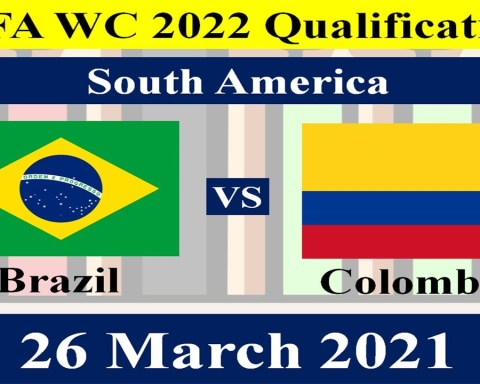 Brazil vs Colombia - 26 March 2021 - FIFA World Cup 2022 South American Qualification Round.