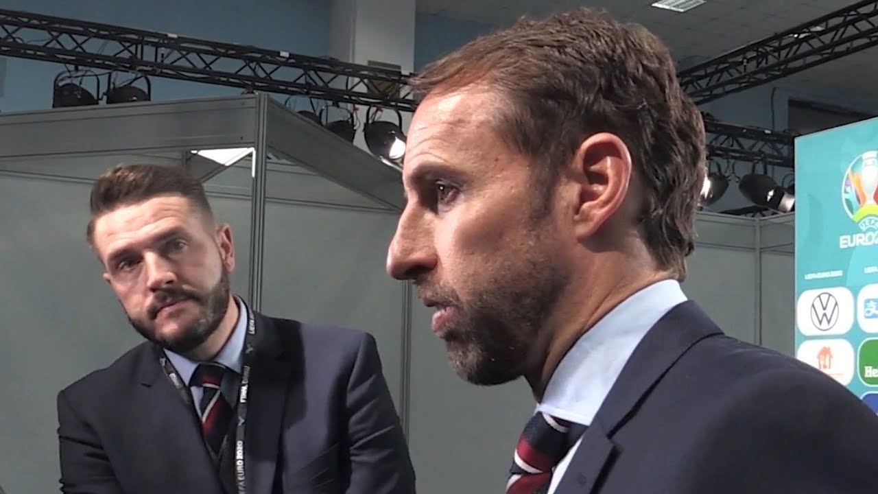 Gareth Southgate Reacts To England's Euro 2020 Draw