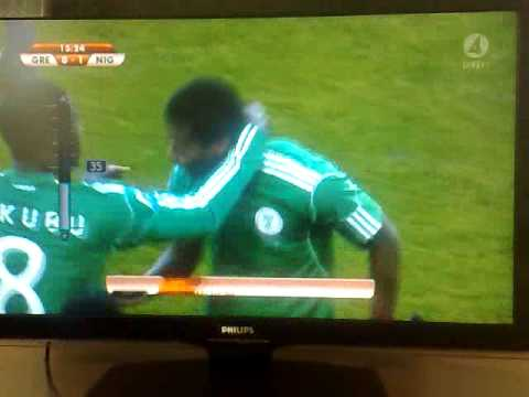 Greece - Nigeria  0-1 Goal Kalu Uche  FIFA WORLD CUP 2010