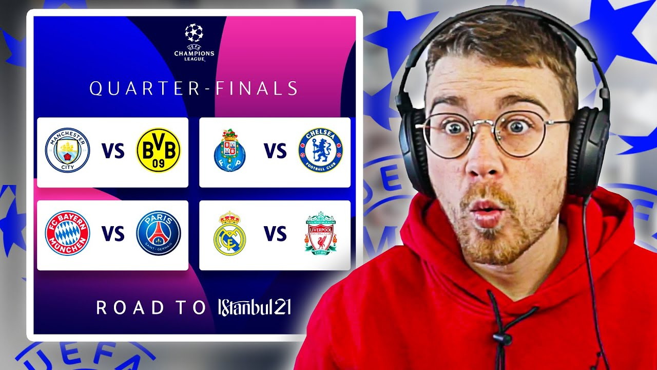 REACTING TO THE CHAMPIONS LEAGUE QUARTER-FINAL DRAW | *AS IT HAPPENED*
