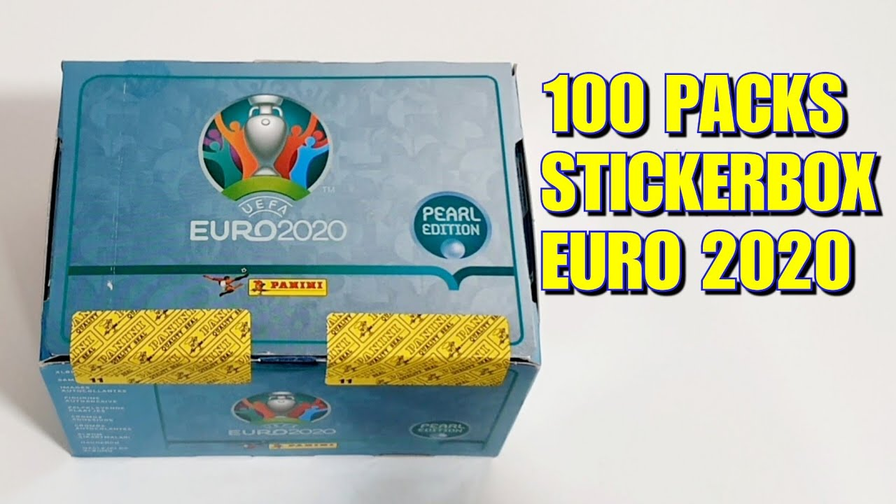 100 PACKS STICKER BOX | Panini Euro 2020 Sticker Album Pearl Edition