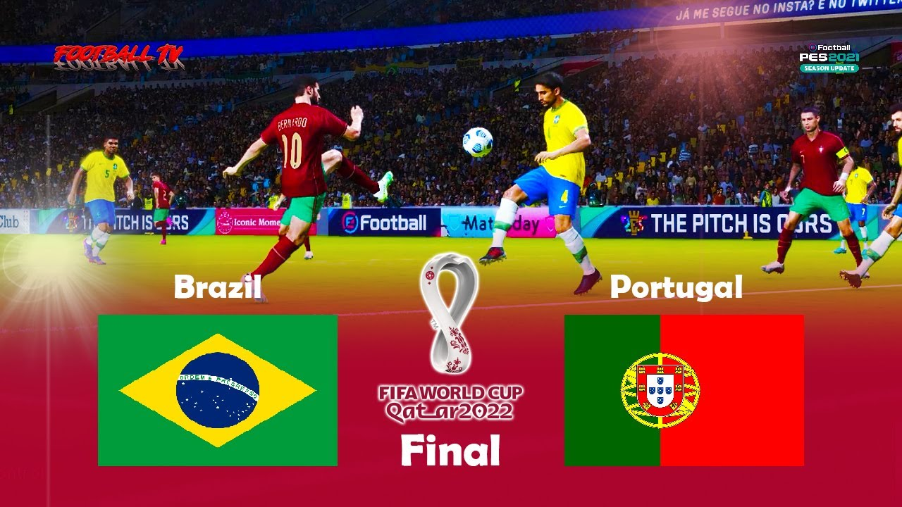 BRAZIL vs PORTUGAL - Final FIFA World Cup 2022 - PES 2021 Gameplay PC
