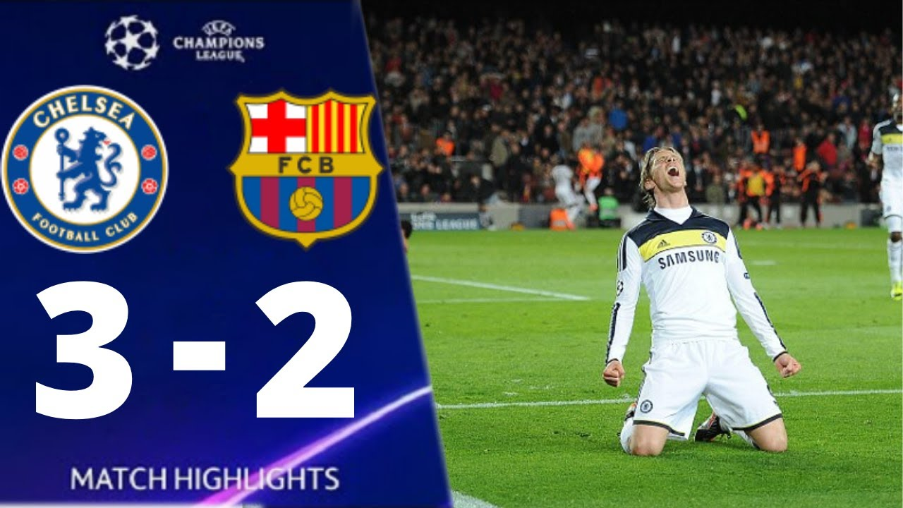 Chelsea vs Barcelona 3-2 UEFA Champions League 2012 All Goals And Extended Highlights
