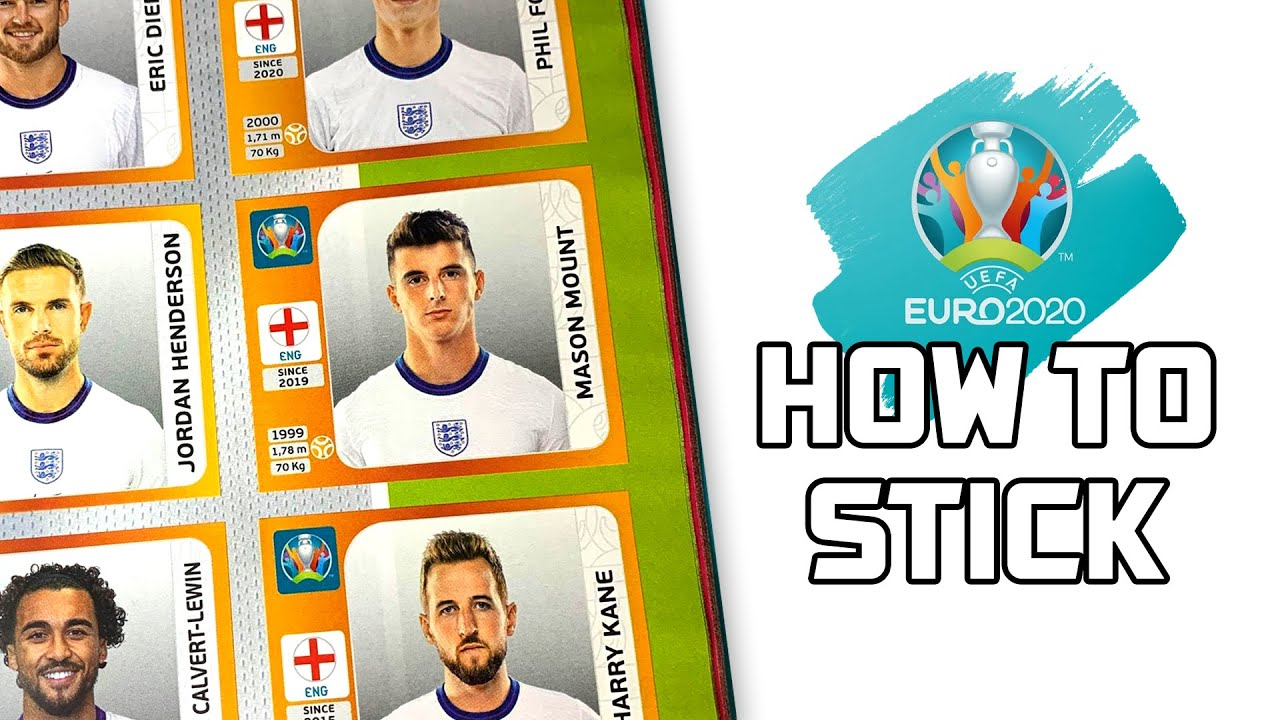 HOW TO STICK in Panini EURO 2020 Stickers!!
