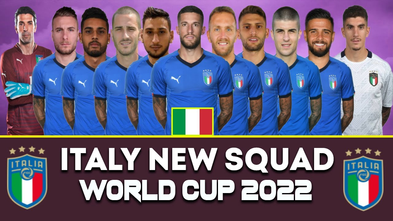 Italy New Squad | FIFA World Cup 2022 Qatar | Italy Possible Squad | ITALY