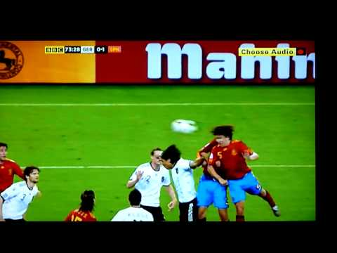 SPAIN GOAL!! highlights of Spain Vs Germany 2010 FIFA World cup