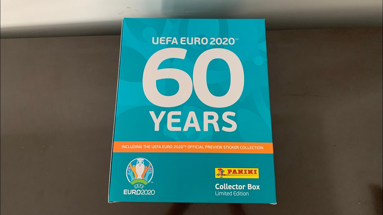 UNBOXING DE LA COLLECTOR'S BOX SET PANINI UEFA EURO 2020 OFFICIAL PREVIEW COLLECTION STICKERS
