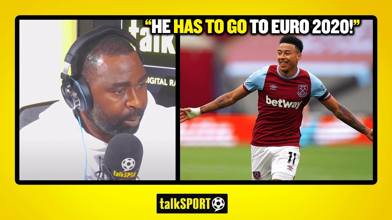 """""""HE HAS TO GO TO EURO 2020!"""" Andy Cole tips Jesse Lingard to be in England's Euro 2020 squad!"""