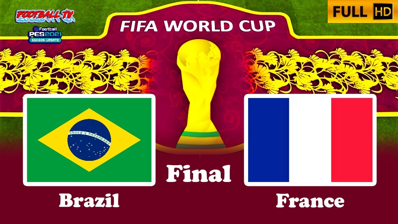 Final FIFA World Cup 2022 | BRAZIL vs FRANCE | PES 2021 Gameplay PC