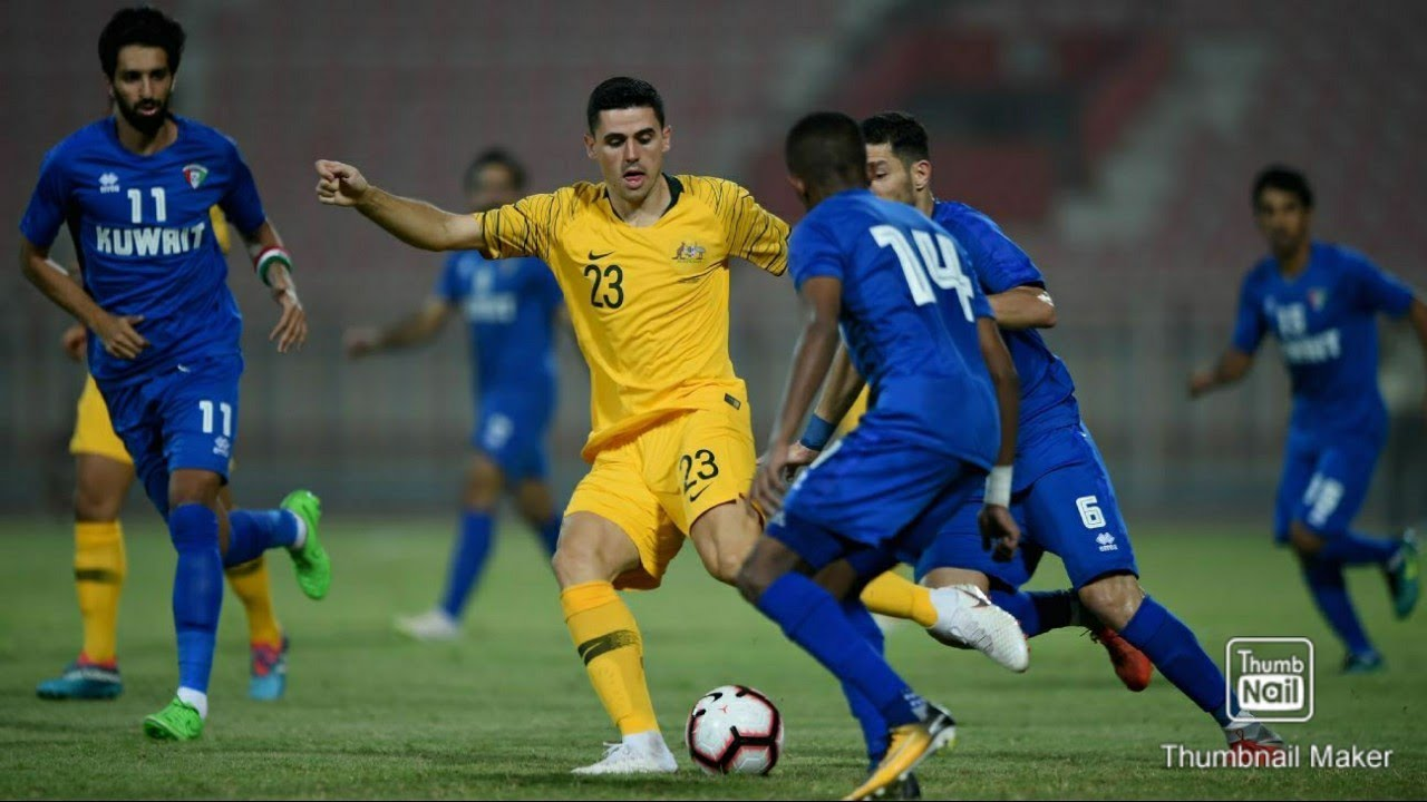 Australia  vs  Kuwait 3-0 Football FIFA World Cup 2022 and AFC Asia cup 2023 joint qualifiers match