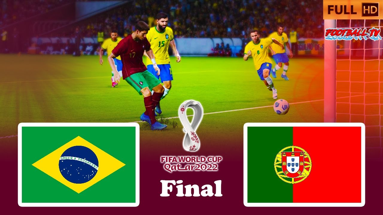 BRAZIL vs PORTUGAL | Final FIFA World Cup 2022 | PES 2021 Gameplay PC