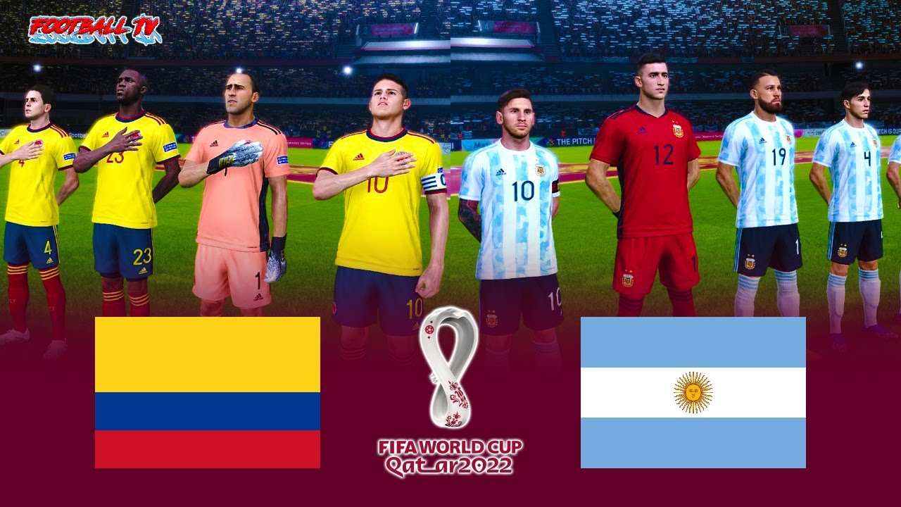 Colombia vs Argentina | FIFA World Cup 2022 | PES 2021 Gameplay Match