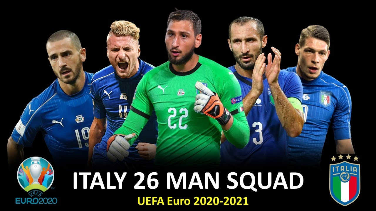 Italy Squad for UEFA Euro 2020-2021: Confirm 26 man players list