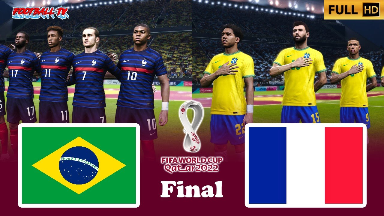 PES 2021 - Brazil vs France - Final FIFA World Cup 2022 - Gameplay PC