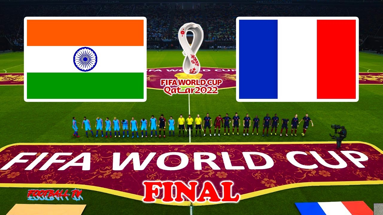 PES 2021 - INDIA vs FRANCE - Final FIFA World Cup 2022 - Full Match - Gameplay PC