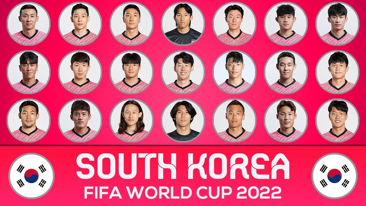 SOUTH KOREA SQUAD FIFA WORLD CUP 2022 QUALIFIERS ASIA