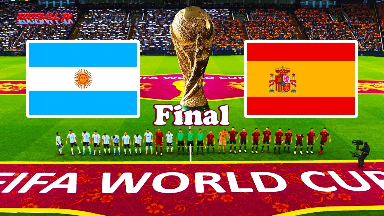 Argentina vs Spain - Final FIFA World Cup 2022 - Full Match - eFootball PES 2021
