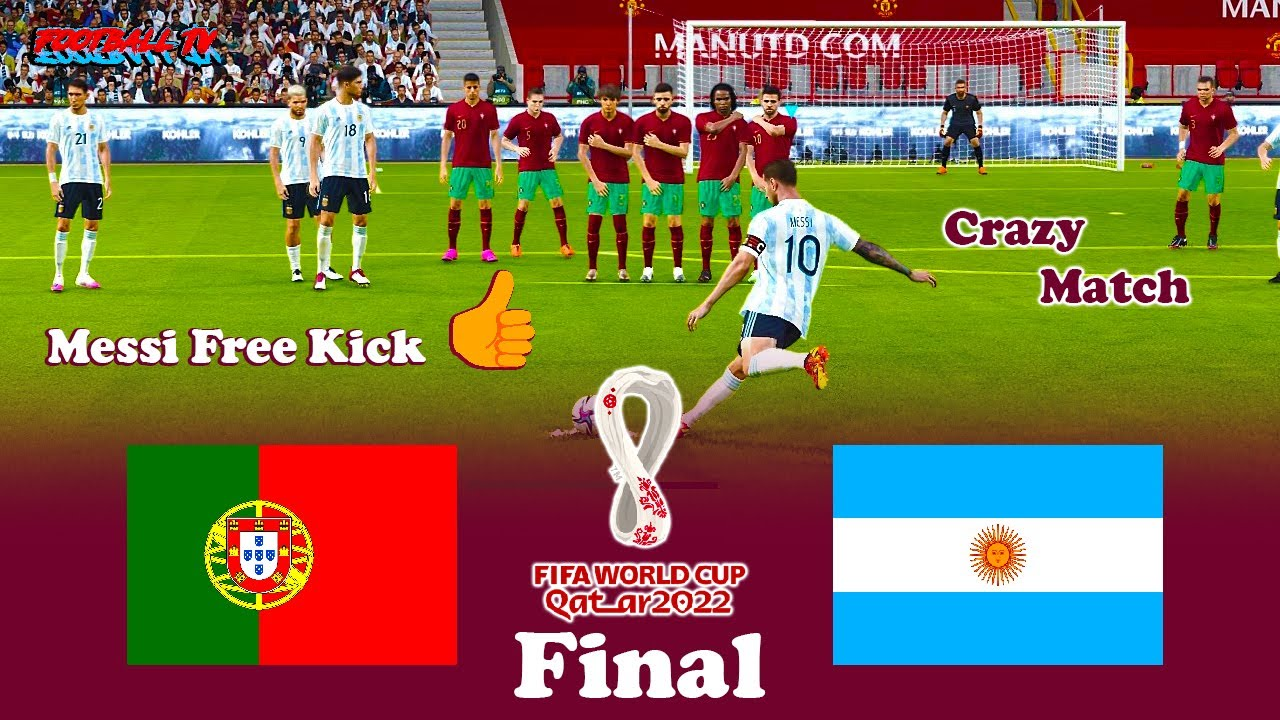 PORTUGAL vs ARGENTINA Final - FIFA World Cup 2022  - Full Match - All Goals - PES 2021 eFootball