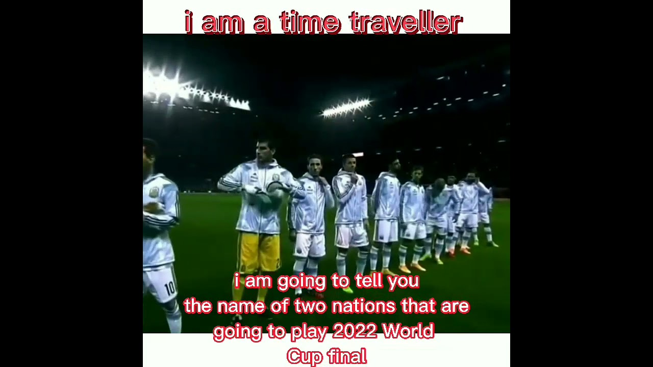 Time traveller predicts the finalist of FIFA World cup 2022 #shorts #fifaworldcup