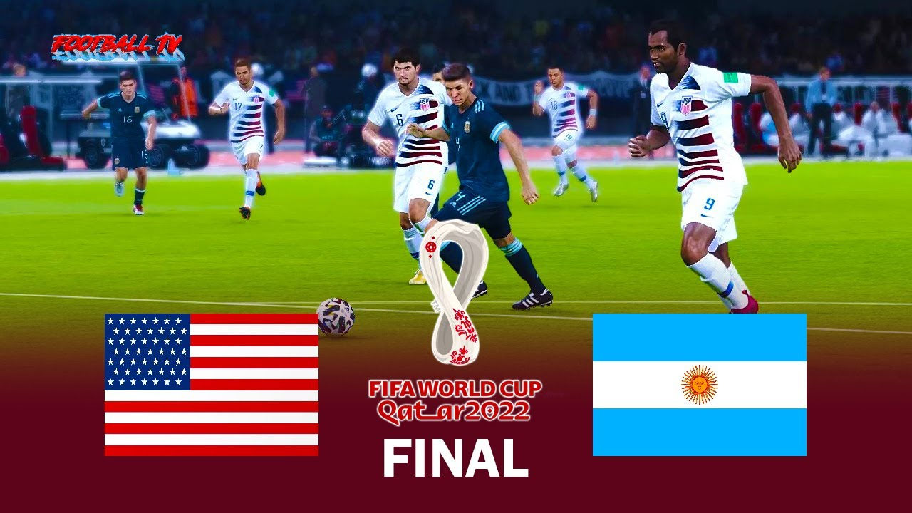 USA vs ARGENTINA - Final FIFA World Cup 2022 - Full Match - eFootball PES 2021 Gameplay