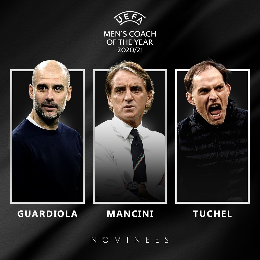 Who would you pick?  NOMINEES: Men's Coach of the Year   Guardiola  Mancini  Tuc...