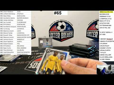 2020-21 Topps Museum Collection UEFA Champions League 6 Hobby Box PYT Break #65 (SOCCER BREAKERS FC)