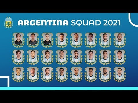 ARGENTINA FULL SQUAD 2021 for FIFA WORLD CUP 2022   CONMEBOL QUALIFIERS
