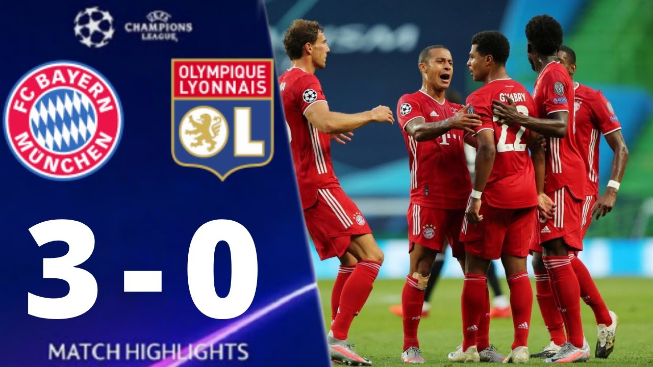 Bayern Munich vs Lyon 3-0 UEFA Champions League 2020 All Goals And Extended Highlights