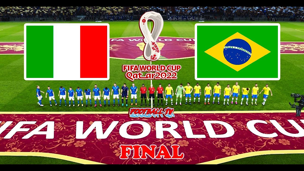 ITALY vs BRAZIL Final - FIFA World Cup 2022 - Full Match All Goals - PES 2021 eFootball Gameplay