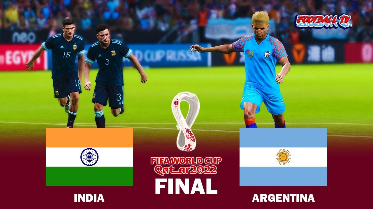 India vs Argentina - Final FIFA World Cup 2022 - Full Match All Goals - eFootball PES 2021 Gameplay