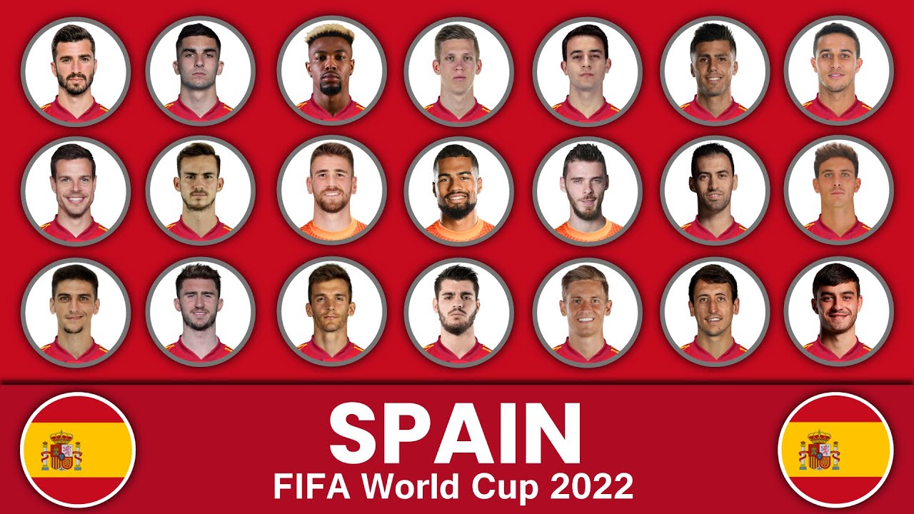 Spain Football Squad in FIFA World Cup 2022 ? Spain Football Team ? FIFA World Cup 2022