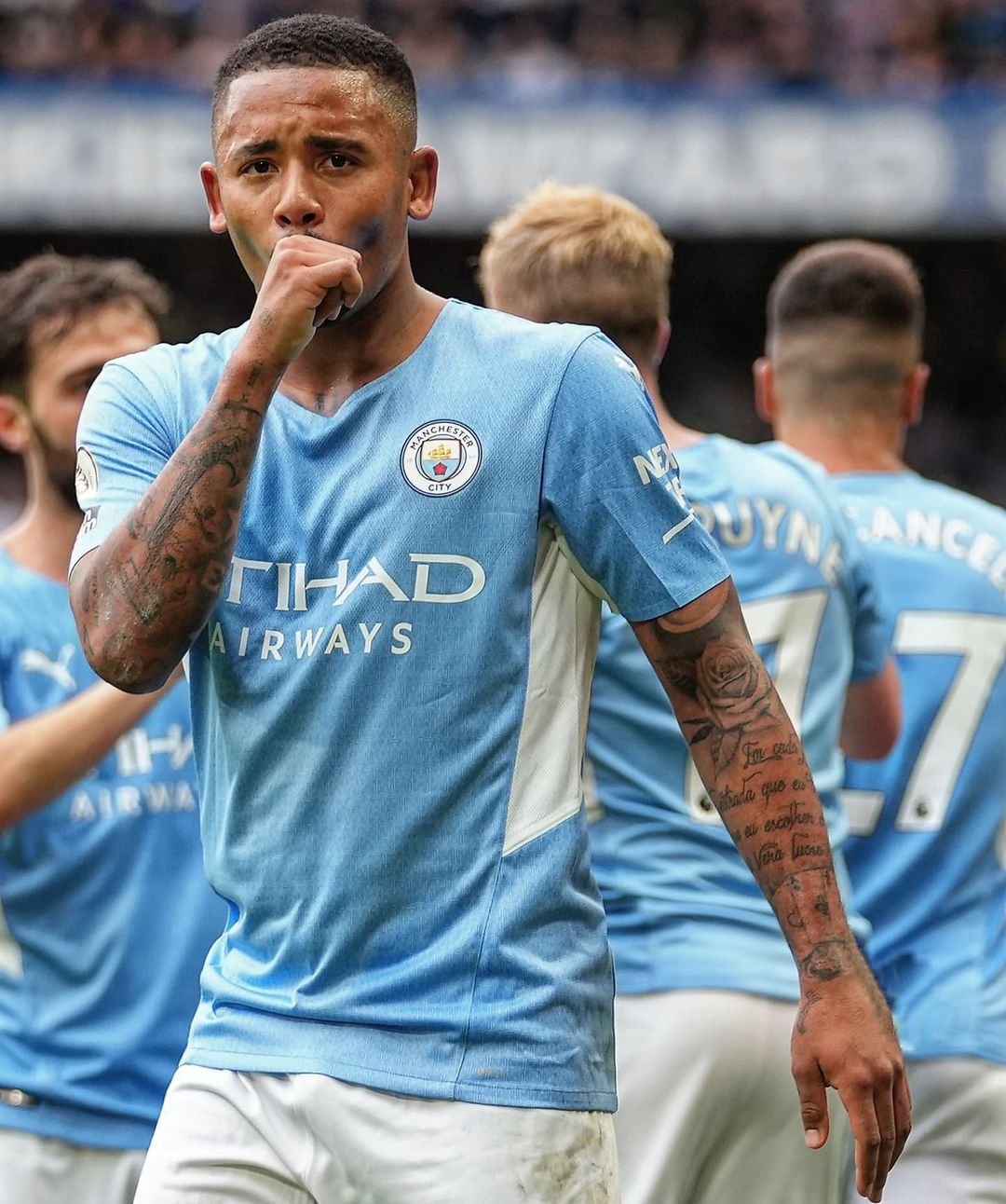 Gabriel Jesus has been directly involved in 7 goals in his last 7 starts for  i...