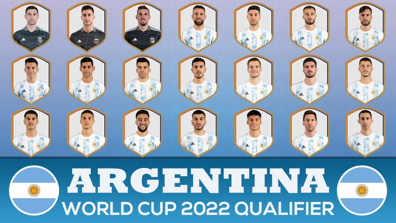 ARGENTINA SQUAD FIFA WORLD CUP 2022 - SOUTH AMERICA QUALIFIERS