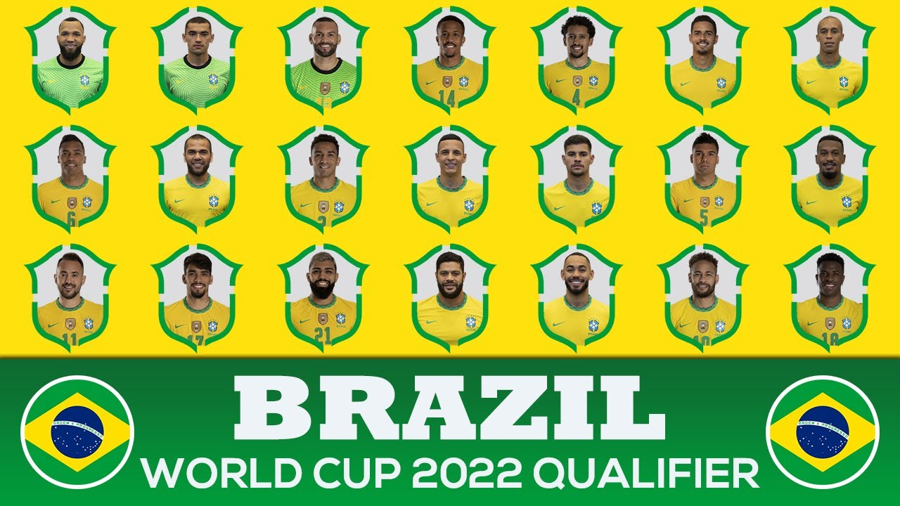 BRAZIL SQUAD FIFA WORLD CUP 2022 - SOUTH AMERICA QUALIFIERS