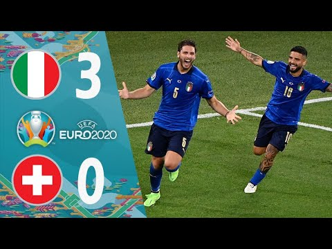 Italy 3 - 0 Switzerland UEFA EURO 2020 Extended Highlights & All Goals FHD