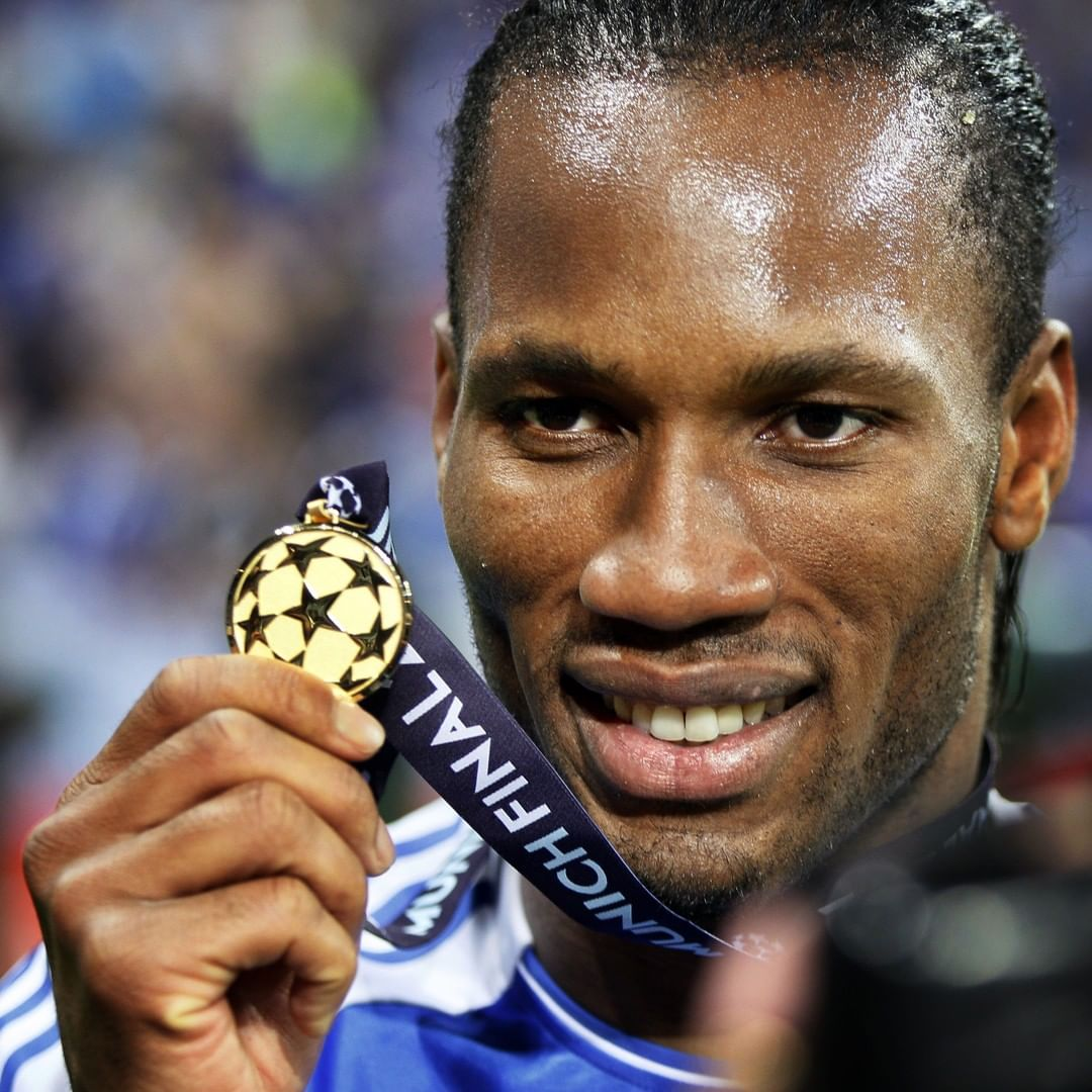 Didier Drogba with the    ...