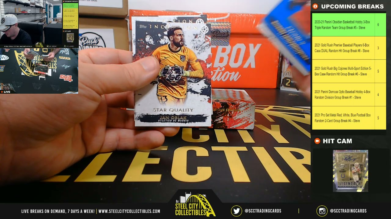 2020-21 Topps Inception UEFA Champions League Edition Soccer Hobby Box Personal Break - Jesse