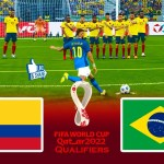 COLOMBIA vs BRAZIL | FIFA World Cup 2022 Qualifiers Full Match | eFootball PES 2021