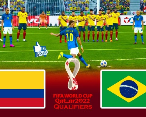 COLOMBIA vs BRAZIL   FIFA World Cup 2022 Qualifiers Full Match   eFootball PES 2021