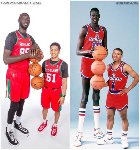 """Are we gonna do the Manute Bol picture?"" -  on media day    (repost ..."